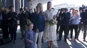 Mary macht Mut - die dänische Kronprinzessin und Eva Kruse (l.) beim Nachhaltigkeitsgipfel