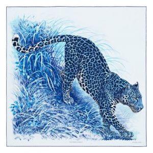 """Carré """"Panthera Pardus"""" von Hermès mit einem Motiv von Robert Dallet"""